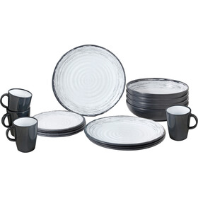 Brunner Lunch Box Set de platos, gris/blanco